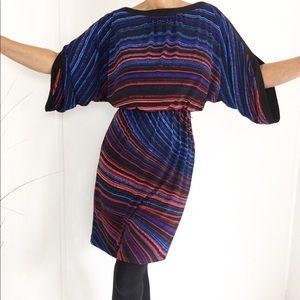 Vintage Boatneck Angel Sleeves Minidress Tunic